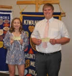 Alexandra Short (left) and Scott Foust are the winners of this year's Huntington Metro Kiwanis Scholarship and Chuck Wohlford Memorial Scholarship, respectively.