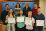 The LaFontaine Arts Council's Artists of the Month are from Riverview Middle School. Pictured are students (front row, from left) Morgan Richison, R-TV; Grace Koons, choir; Bailey Godfrey, band; and Jacob Miller, art; and (back row, from left) teachers Chris Husband, communications; Danielle Ellenburg, choir; James Court, band; and Christine Nicholson, art.
