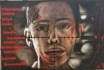 """An airbrush portrait, by Alejandro Avila, entitled """"War,"""" captured the Best of Show Award at the 2018 LaFontaine Arts Council's Regional Art Show. The show will be open to the public through Aug. 29 at the Robert E. Wilson Gallery at Huntington University."""