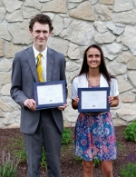 Joshua Scott (left) and Jenna Henline earned graduation certificates from the seminary program of The Church of Jesus Christ of Latter-day Saints.