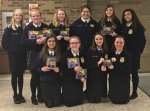 Ten Huntington North High School FFA members attended the District VI FFA Convention and competed in a variety of speaking contests, demonstrations and other events on Friday, March 17.  Attending were (front row from left) Kiara Dominguez, Hailey Alford, Savannah Jones and Cheyenne Karst and (back row from left) Victoria Keiffer, Cora Hill, Madelynn Keiffer, Alexa Diaz, Bailey Irick and Dakota Pepper.