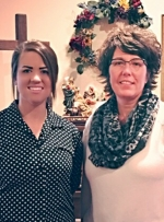 Stephanie Nielsen (left) is the new director of Little Blessings Child Care Ministry, in Huntington. Shallie Brown (right) is the new assistant director.