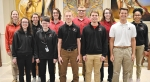 The Top 10 academic students of the Bishop Luers Class of 2018 have been announced. They are (front row from left) Emily McManus, Sara Quinn, Garrett Scheiber, salutatorian Adam Veldman and Jonathan Woehnker; and (back row from left)valedictorian Margaret Cicchiello, Allyson Emmett, Benjamin Fink, Mitchell Gigli, Megan Gilpin and Camille King.
