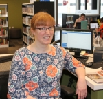 New Huntington City-Township Public Library Markle Branch Manager Anna Brinegar mans the circulation desk Wednesday, Feb. 14. Brinegar plans to see the library's circulation improve in 2018 by helping patrons find the materials they need.