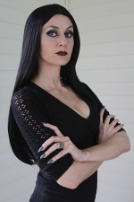 "Jana Henly is Morticia in ""The Addams Family Musical,"" opening July 10 at the Pulse Opera House, in Warren."