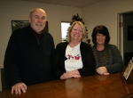 Serving in the new Habitat for Humanity office now located at 250 Commerce Drive, in Huntington, are (from left) Director of Accounting Jay Lahr, Executive Director Jean Wright and Volunteer and Program Coordinator Sam Schaadt.