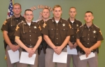 Newly sworn in as reserve officers with the Huntington County Sheriff's Department are (front, from left) Jordan Sweet, Don Whitney and David Kewish; and (back, from left) Zack Wallace, Zak Buzzard and Jared Hughes.