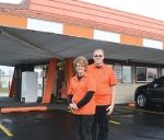 New B&K Rootbeer Stand owners Kim (left) and Kirk Heyde stand outside the iconic building at 1218 S. Jefferson St., Huntington. The Heydes bought the business, which has operated for 69 years, on Jan. 1.