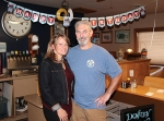 Jim Drabenstot (right) is the owner of Nick's Junction, in Roanoke, and recently celebrated 30 years of owning the restaurant. With him is his fiancée, Kristina Wiley, who helps him out at the eatery.