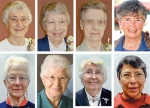 Pictured are (top row from left) Mary Ginsterblum, Joan Arnold, Monica Haines and Mary Murphy; and (bottom row from left) Paula Wellnitz, Clarita Trujillo, Teri Nederhiser and Teresa Aparicio-Cervantes.