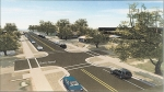 A sketch of improvements that will be made to Tipton Street after new sewer pipes are installed under the street in 2022 and 2023.