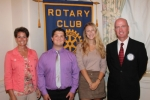 Brant Young (second from left) and Emily Daas (third from left) are the Huntington Rotary Club's Junior Rotarians for October. With them are Rotary Club sponsors Nicole Johnson (left) and Randy Sizemore.