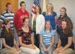 Huntington County 4-H Junior Leaders officers are (front row, from left) Samantha Paschal, Brittney Stephan, Marissa Foraker and Erin Knight; and (back row, from left) Matthew Knight, Robert Sliger III, Nola Cummins, Tianna Myers and Alyssa Aughinbaugh.