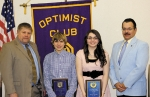 The Huntington Optimist Club recently honored Riverview Middle School students J.J. Whicker and Maggie Winters with the club's Youth Appreciation awards.