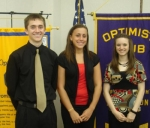 Taylor Allred, Maria Santa and Kayleigh Mower are the recipients of Huntington Optimist Club scholarships.
