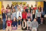 The Riverview Middle School's Academic Super Bowl team collectively placed second in its recent area state competition. Celebrating the occasion are (front row from left) Charlie Zehner, Abagayle Wright, Porter Kennedy, Jane Gayed, Kameron Dennis and Jaydon Stephan;  (second row from left) Ella Hall, Jackson Worthman, Gwendolyn Ranc, Dylan Palmer, Shyanne Stout, Kenzie Gamlin, Gabrielle Alford and Madison Martinez; (third row from left) Keller Whicker, Alyssa White, Regan Cornett, Kristian Michaelson, Jacob Daugherty, Matthew Lewis, Dalton Tomasek, Clair Redner and Rachel Bryant; and (back row from left) Paige McCutcheon, Avery Drabenstot, Skyla Tomasek, Cam McCarver, JT York, Kelsie Ludemann, Madison Herstad, Ethan Meyer and Aurora Maul.