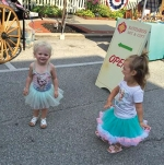 Rowan Doughty (left) and Stella Johnson (right) dance in the streets of downtown Roanoke during last year's Princess Party. The party for this year will be held on Saturday, Aug. 26, from 10 a.m. until noon.