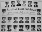 The Rock Creek Center High School Class of 1965 will celebrate its 50-year reunion on Sept. 12. Class members are (top row, from left) Darwin Gilbert, deceased; Rickie Randol; Fred Grogg; Julius Moore; Claude Sparks, deceased; and Terrel Becker, deceased; (second row, from left) Pamela Vardaman Wall and Vicki Davis Jenks, deceased; (third row, from left) Ted DeHaven; Phyllis Wood Bonner; Sharon Broom Jones; Tommy Allen; Rita Reber Hotchkiss; Brenda Britt; and John Hacker; and (bottom row, from left) Charles Iser; Jane Barnes Dowden; Joy Jones Gilbert; Dixie Sparks Oldham; Carlotta Flemming Tackett; Peggy Whisenhunt Hoch; and Herbert Brown, deceased.