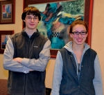 Artwork by Huntington North High School sophomores Justin Beihold (left) and Makenzie Kline was selected for inclusion in the Scholastics Art & Writing Competition show on display through April 5 at the Fort Wayne Museum of Art.