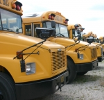 The Huntington County Community School Corporation's buses are ready to transport students to the first day of classes on Thursday, Aug. 13.