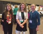 Local students (from left) Grace Bryant, Jessica Hartmus and Laura Hartmus participated in the Hoosier Science and Engineering Fair April 1 in Indianapolis, with each student earning an individual award.