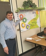 Randall Seaman (left) is shown teaching a recent class about career readiness for Junior Achievement. Seaman is a Bendix Commercial Vehicle Systems employee and a member of the Huntington County Junior Achievement Board. Bendix provided funding for a series of classes that saw local students get the opportunity to learn from local business men and women about career success.