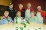 Some of the ladies who are working on this year's Shamrock Luncheon at St. Peter Lutheran Church are (seated, from left to right) Pam Wertenberger, Sue Eltzroth and Mary Ellen Fuller; and (standing, from left to right) Sandy Slusser, Barba Eickhoff, PJ Eddie and Joyce Gravley. The luncheon will be held on March 20.