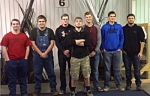 Huntington North High School precision machining students celebrate their awards at the Regional SkillsUSA competition in competition held Saturday, Feb. 11, at Ivy Tech Community College Northeast. Pictured (from left) are Ben Bentz, Jayson Bailey, Jayson Mote, Jarrett Rennaker, Corbin Landrum, Michael Okuly and Blake West.