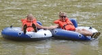 Myah Eltzroth (left) and Tara Eltzroth float down the Wabash River during the 2019 Splash on the Wabash event. This year's float will take place Saturday, Aug. 1, sponsored by the Historic Forks of the Wabash and Boy Scout Troop 130.
