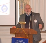 Mayor Brooks Fetters explains his plans for Huntington to members of the Huntington Rotary Club on Tuesday, Jan. 12.