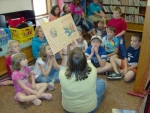 """The Roanoke Public Library started its seven-week summer reading program on June 8. This year's theme is """"Step into Your Fantasy,"""" and the program  is open to youth of all ages. Pictured are youth from the afternoon reading session."""