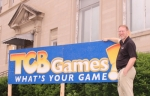 Todd Nightenhelser, the owner of TCB Games, stands outside the store's new Huntington location at 44 E. Park Drive, which was built to serve as the Carnegie Free Library in 1903. In addition to his business, Nightenhelser hopes to attract other tenants to the building, with the goal of making it a hub of local activity once more.