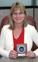 DeAnna Scott was presented with the District Award of Merit for the Wabash Valley District on March 6 for her participation with Huntington Boy Scouts.