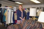 Susan Wieczorek stands inside the New Life Ministries Thrift Shop in Huntington, which will celebrate its grand opening this Friday and Saturday, Oct. 20 and 21.