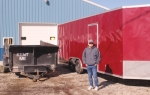 Wayne Asher, of Two Brothers Hauling, in Majenica, stands alongside the business' 30-foot enclosed trailer and one of its two dump trailers. Asher owns the business with his brother, Ed Asher. The brothers say the business will haul away or transport a wide variety of items.