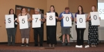 The United Way's 2017 campaign goal is spelled out in numbers held by supporters who attended the organization's kickoff luncheon on Wednesday, Sept. 20. Pictured (from left) are Susan Rentschler, Huntington County Community Schools; Jessi Brown, Huntington City-Township Public Library; Ron Orman, Parkview Huntington Hospital; Rachel Achenbach, Huntington County Community Schools; Tim Bischoff, City of Huntington; Lindsi Walker, First Federal Savings Bank; and Sharon Metzger, Place of Grace.