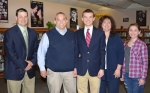 Huntington North High School valedictorian Andrew Kennedy (third from left)  was honored Wednesday, April 23. With him are (from left) HNHS Principal Chad Daugherty, his father Tim, mother Robin and sister Erika.