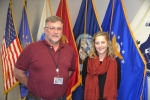 Huntington County Veterans Service Officer Tim Eckert (left) and Administrative Assistant Mary Abbott are coordinating the first Veterans Expo, to be held on Nov. 10 as part of the office's effort to make sure veterans receive all the benefits they have coming.