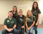 "Huntington University's doctor of occupational therapy program students (from left) Cody Zimmer, Caroline Hesterman, Mallory Coleman, Caitlin Hansen and Danielle Brenner created the ""Celebrating 100 years of Occupational Therapy"" video that was chosen as one of 10 to represent the American Occupational Therapy Association's Student Centennial Video project."