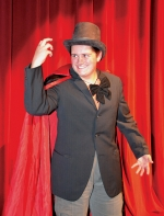 """Robert Borland is villainous Lawyer Slippery in the Huntington North High School Masque & Gavel Club's melodrama """"The Will."""" He'll terrorize fair maidens for two days during the Forks of the Wabash Pioneer Festival, Saturday and Sunday, Sept. 24 and 25."""