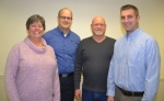 Julia Glessner (left) was re-elected president of the Warren Town Council on Monday, Jan. 9, while Ethan Stivers (right) was re-elected as vice president. The council also includes Tracey Brown (second from left) and Steve Buzzard. The town council meets on the second Monday of each month at 5 p.m. in Warren Assembly Hall, in downtown Warren. Meetings are open to the public, and the next meeting is set for Feb. 13.