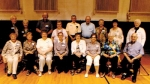 Members of the Warren High School Class of 1954 and their spouses attend their 60-year reunion at the Alumni Association dinner on May 10.