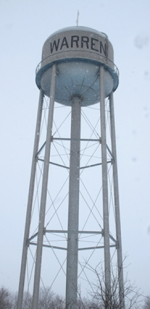 The Warren Town Council met on Monday, Feb. 8, to discuss the water project that includes demolition of the water tower in Tower Park and construction of a new one in the same location.