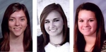 (From left) Hannah Whitacre, Holly Bickel and Tiffany Burke.