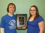 Josh Miller (left), program director at the Boys and Girls Club of Huntington, recently presented the organization's youth of the year award to member Katelyn Huddleston, who will represent the club in state competition on April 15-16.