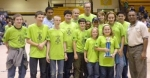 Huntington's rookie robotics team finished in the top five in a qualifying competition on Saturday, Nov. 14, at Hammond.