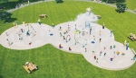 A sketch of the proposed improvements to the Terry R. Abbett Splash Park at Huntington's Drover Park.