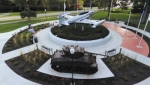 Daniel Fisher's photo of the veterans' memorial at Memorial Park took first place in the physical environment category.