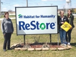 Habitat for Humanity ReStore has become the latest Safe Place site in Huntington County. Pictured are (from left) Maureen Flynn and JoAnn Burnau of the ReStore and Callie Monce of Safe Place/runaway and homeless youth coordinator at Youth Services Bureau of Huntington County.