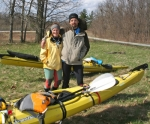 LaNae (left) and John Abnet, of Berne, prepare to set up camp at the Kilsoquah boat dock at Roush Lake Fish and Wildlife Area, Huntington, on Friday, April 10. The couple plans to kayak the Wabash River from its source in Ohio to New Orleans, LA, where it ends.